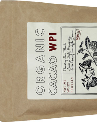 cacao whey protein isolate bag